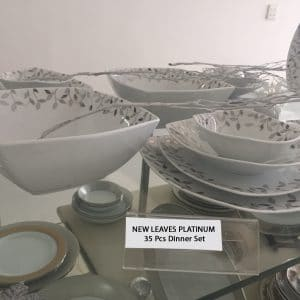 NEW LEAVES PLATINUM 35 Pcs Dinner Set copy